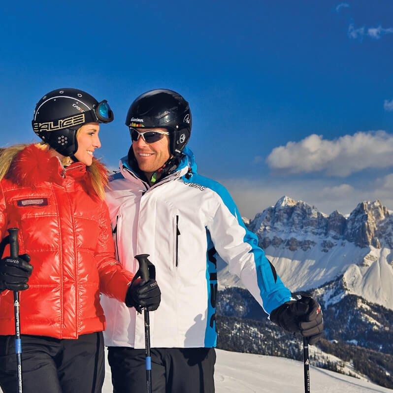 Skifahren in der Natur